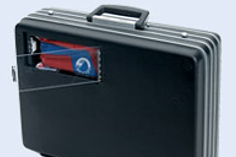 SAT MC/CC - Electronic Security Briefcase with Money Collection Slot with Smoke or Ink